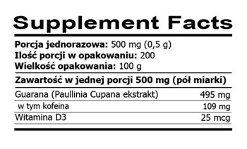 Rawfoods Guarana Extract 100g